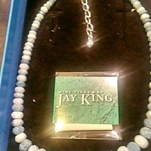 Jay King Dream Blue Opal Bead Necklace